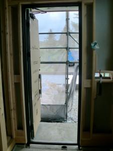 I様邸施工状況「玄関ドア」
